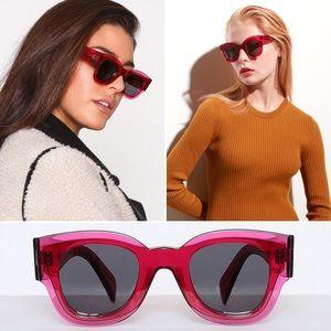 RARE CELINE Pink Fuchsia 'Zoe' CL41446 Sunglasses